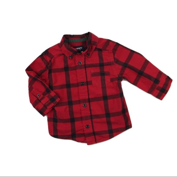 Carter's Other - Carter's Red and Black Shirt, Size 12 Months